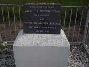 Memorial where Sir Winston Churchill was captured